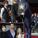 13. Dezember 2012: Hugh Jackman wird mit einem der begehrten Sterne auf dem Walk of Fame geehrt. Dabei posiert er zwar mit seine
