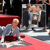 """4. September 2012: Ellen DeGeneres bekommt einen Stern auf dem """"Walk of Fame"""". Zum Gratulieren gekommen sind ihre Frau Portia de"""