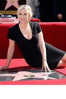 17. März 2014: Das wurde aber auch Zeit: Oscar-Preisträgerin Kate Winslet darf sich über ihren Stern auf dem Walk of Fame freuen.