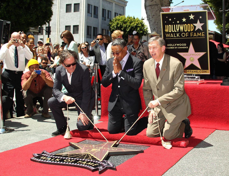 """29. April 2014: """"Breaking Bad""""-Bösewicht Giancarlo Esposito ist gerührt. Der Schauspieler bekommt einen Stern in Hollywood."""