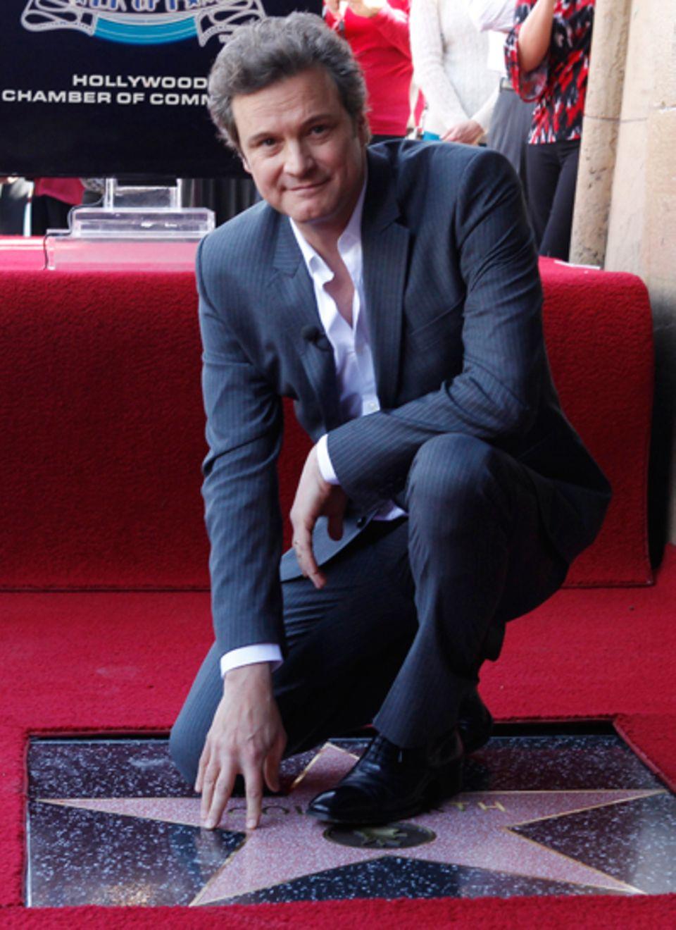 13. Januar 2011: Ein Hollywood-Stern für den Briten: Colin Firth dankt unter Tränen und am allermeisten seiner Frau, als er sein