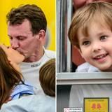 """5. August 2012: Familienausflug zum """"Historic Grand Prix"""" in Kopenhagen. Prinz Henrik unterstützt mit Mama Prinzessin Marie sein"""
