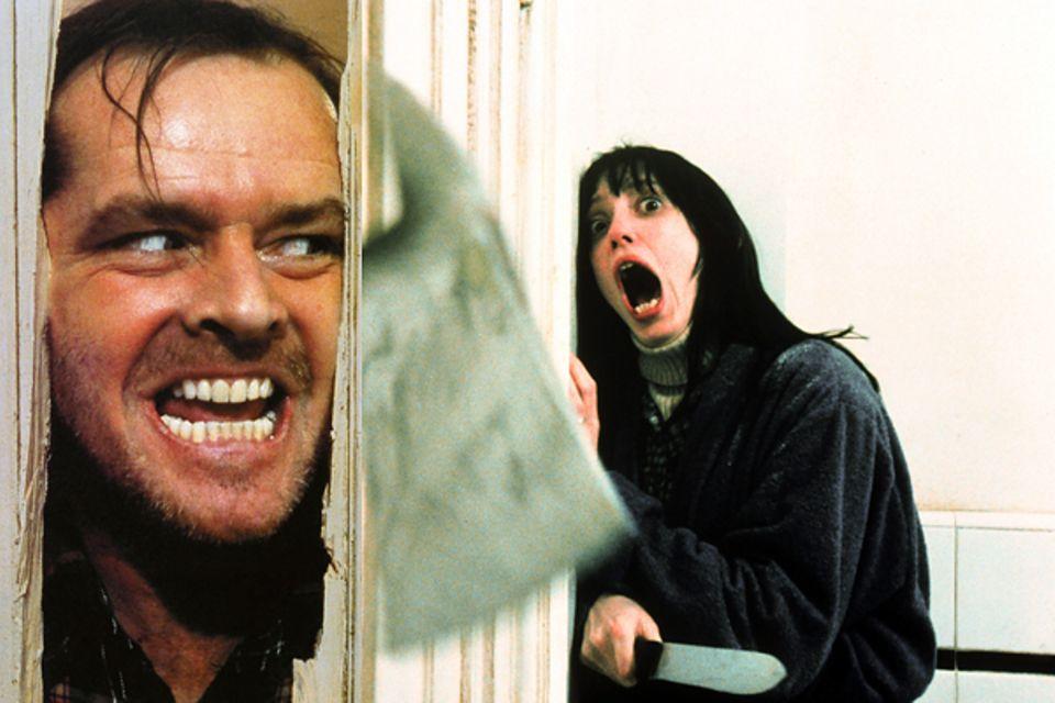"""Wenn Jack Nicholson in Stanley Kubricks """"Shining"""" die Axt schwingt gerät Shelley Duvall zurecht in Panik."""