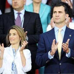 Natürlich waren auch Letizia und Prinz Felipe von Spanien auf der Tribüne: Spanien gewann das Spiel gegen Russland und zog ins F
