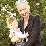 Top-Model Franziska Knuppe mit Top-Baby Mathilda, ihrer elf Monate alten Tochter