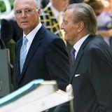Zu den Hochzeitsgästen gehörten auch Franz Beckenbauer und UEFA-Vizepräsident Gerhard Mayer-Vorfelder