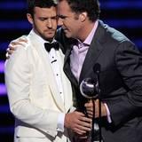 Hat Justin etwa Bammel vor einem Kuss von Will Farrell?
