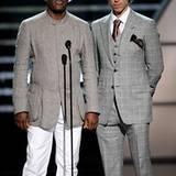 Samuel L. Jackson und Basketballspieler Steve Nash