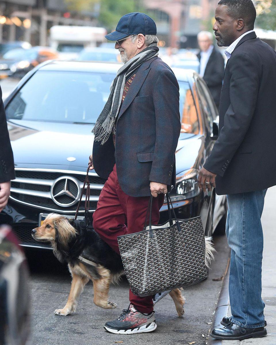 So ein Hund macht selbst einen Steven Spielberg zu einem einfachen Hundebesitzer, der sich liebevoll, um die Bedürfnisse seines Vierbeiners kümmert.