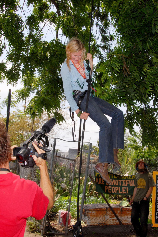 Daryl Hannah besetzte einen Baum und wurde sogar dafür verhaftet