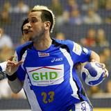 """Pascal """"Pommes"""" Hens, 28, Handballstar beim HSV, Handballweltmeister als Nationalspieler 2007 mit Vorliebe zur Punkfrisur"""