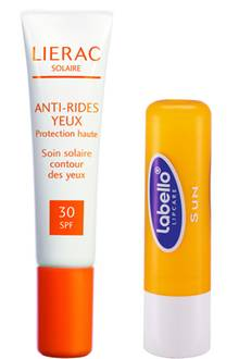 Lierac Solaire 15ml Augenpflege: 19,90 Euro; Labello ab 2,29 Euro