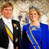 In Amsterdam werden die Wachsfiguren des Königspaars vorgestellt: König Willem-Alexander und Königin Máxima.