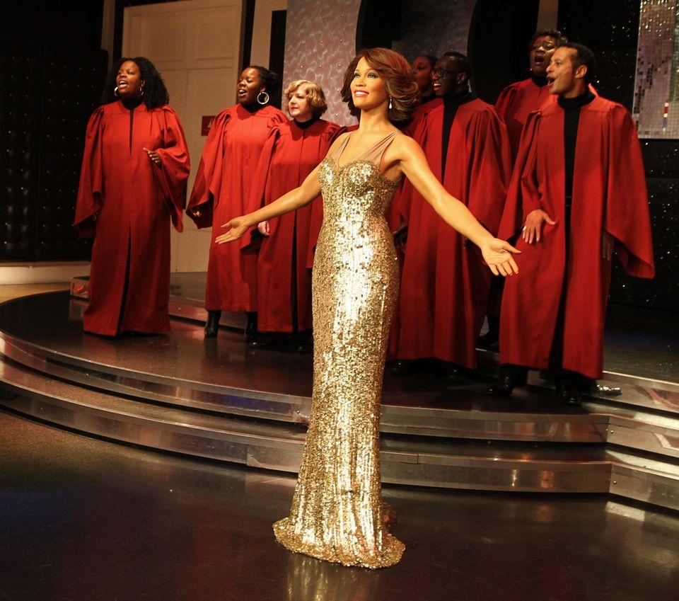 Der 2012 verstorbenen Sängerin Whitney Houston wird bei Madame Tussauds in London eine Wachsfigur gewidmet.
