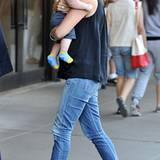 13. August 2012: Während Mama Jennifer Garner mit Sohn Samuel in New York unterwegs ist, ...