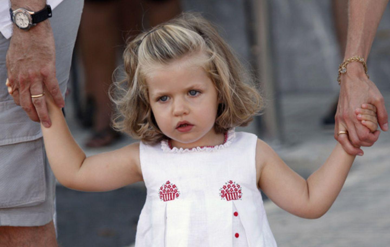 Prinzessin Leonor scheint skeptisch zu sein