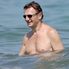 Der irische Schauspieler Liam Neeson als Wasserratte