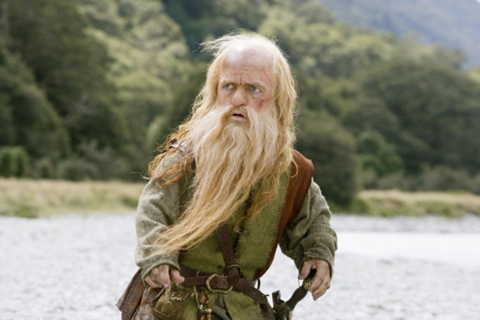 "Filmszene aus ""Prinz Kaspian von Narnia"": Peter Dinklage als ""Trumpkin"""