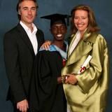 Greg Wise, Tindyebwa Agaba, Emma Thompson
