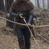 """Russell Crowe  traniert bei den Dreharbeiten zur """"Robin Hood""""-Verfilmung"""