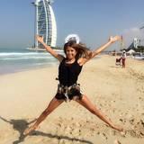 Cathy Fischer freut sich, Silvester in Dubai verbringen zu dürfen.