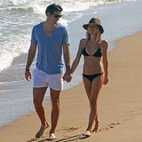 """Football-Spieler Jay Cutler und Schauspielerin Kristin Cavallari nehmen sich zusammen eine Auszeit im """"Bahia Beach Resort"""" in Los Angeles."""