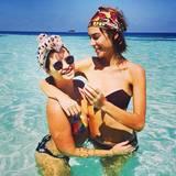 Pixie Geldof und Alexa Chung urlauben gemeinsam auf den Malediven.