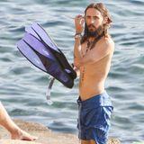 Jared Leto geht vor Ibiza eine Runde schnorcheln.