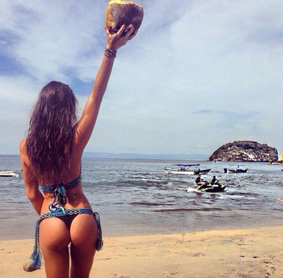 Auch Liliana Matthäus ist auf St. Lucia und freut sich über das karibische Wetter.