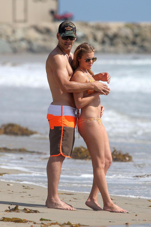 LeAnn Rimes und Eddie Cibrian feiern den 40. Geburtstag des Schauspielers an einem Strand in der Nähe von Los Angeles.