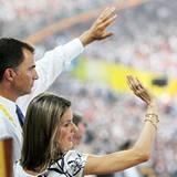 Das spanische Königshaus war natürlich auch vertreten: Kronprinz Felipe und seine Frau Letizia