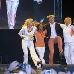 Tanzen für den Sieg: Maxima und Willem feiern mit den Olympioniken