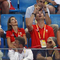 """""""Da oben ist der Ball"""": Das spanische Kronprinzenpaar beim Handball"""