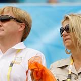 Kronprinz Willem Alexander von den Niederlanden und seine Frau Prinzessin Maxima waren natürlich auch bei den Spielen ihres Land