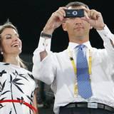 Ein Foto für die Lieben daheim: Prinz Felipe und Prinzessin Letizia