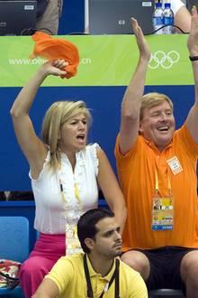 Die Niederländer zeigen ihren Enthusiasmus für das Team in Orange