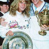 09. Juli 1989: Die beiden erfolgreichsten Tennispieler Deutschlands: Steffi Graf und Boris Becker