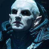 """Christopher Eccleston in """"Thor 2""""  Schauspieler Christopher Eccleston sieht als """"Malekith"""" ganz schön schaurig aus. Bei seinem futuristischen Grusel-Look haben die Maskenbildner des Films ganze Arbeit geleistet."""