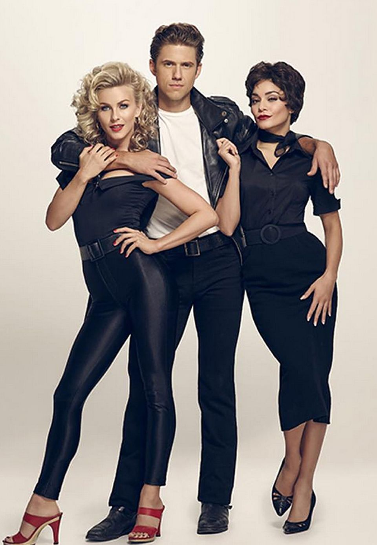 """Wiedersehen mit Sandy, Danny und Rizzo: Der US-amerikanische Fernsehsender Fox bringt Ende Januar 2016 eine neue Version von """"Grease"""" auf die Bildschirme, und zwar als Live-Event. Julianne Hough, Aaron Tveit und Vanessa Hudgens spielen die Haupttrollen."""