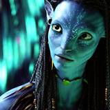 "Zoe Saldana in ""Avatar"":"