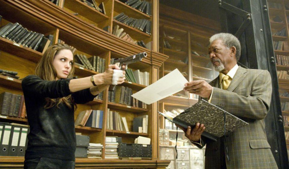 Fox mit Bruderschaftsanführer Sloan (Morgan Freeman)