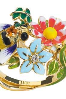 Ring aus 750er Gelbgold mit Diamant und Citrin von Dior Joaillerie, ca. 3300 Euro