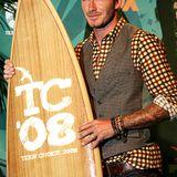 Sportlich und Cool, David Beckham bei den Teen Choice Awards 2008 - natürlich mit seinem Armschmuck