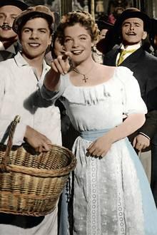 """Romy Schneider 1955 in """"Die Deutschmeister"""""""