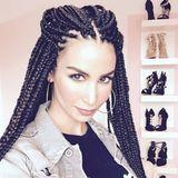 Back to the 90s! Sila Sahin präsentiert sich auf ihrem Instagram-Profil mit beeindruckenden Braids. Und sie mag sich so. Rasta basta!