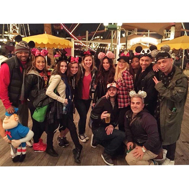 Christina Aguilera feiert ihren Geburtstag mit ihren engsten Freunden in Disneyland.