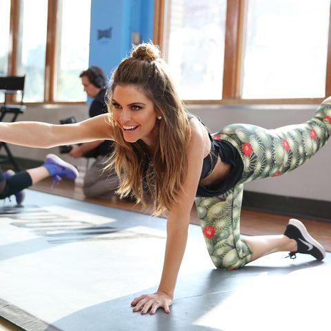"""Maria Menounos kommt beim """"Tapout Fitness Event"""" in New York City ins Schwitzen."""