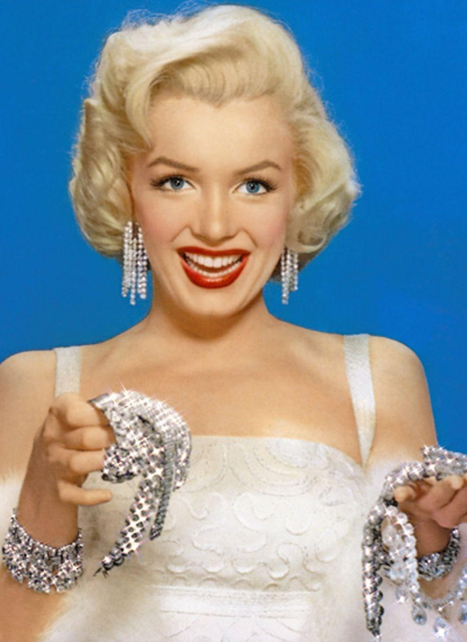 """Marilyn Monroe im Film """"Blondinen bevorzugt"""" 1953"""
