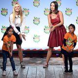 """Michelle Hunziker und Tochter Aurora gehören zu den Promis die beim """"Kindertag"""" im Karls Erlebnis-Dorf Kinder des Hilfswerks """"Die Arche"""" unterstützen. Die Veranstaltung findet im Vorfeld des Weltkindertages am 20. September statt."""