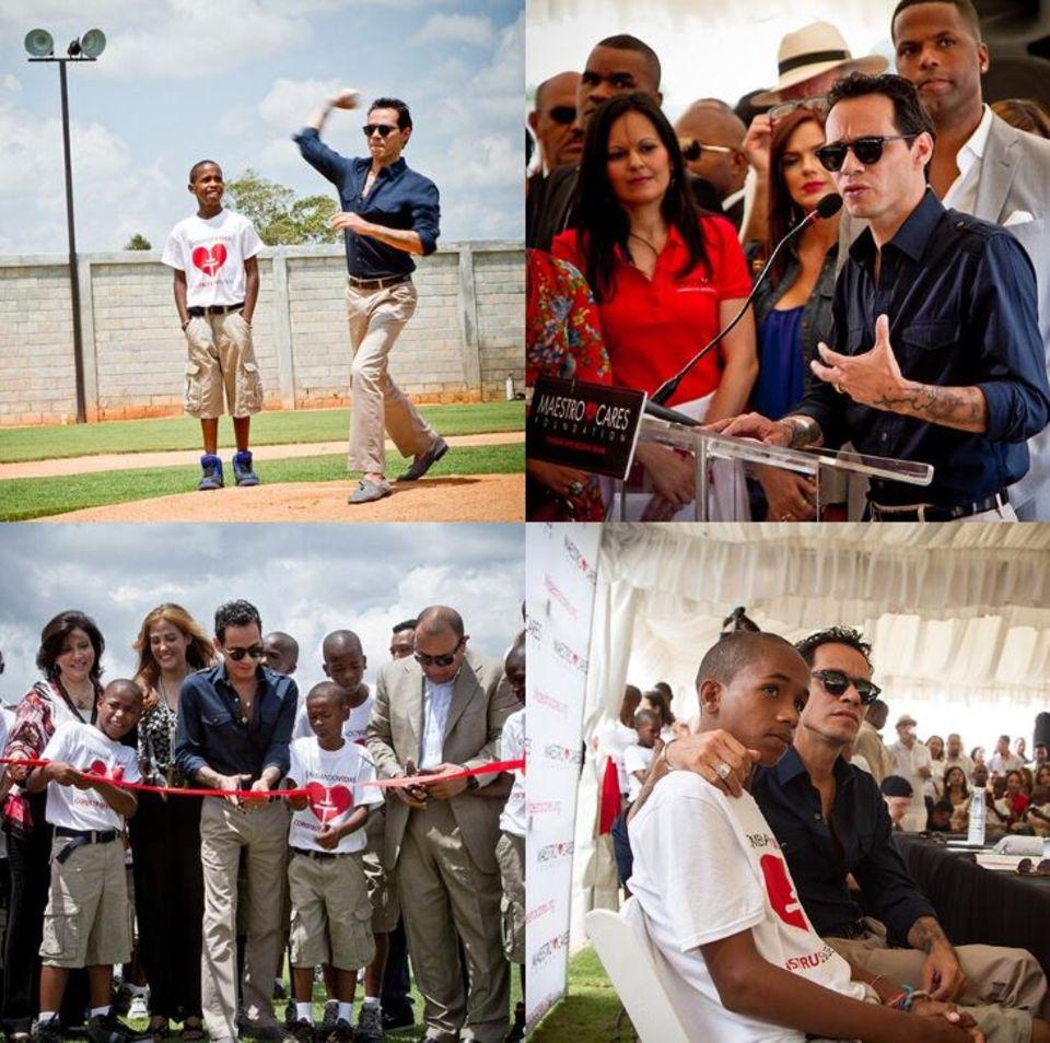 """Marc Anthony ist stolz auf seine Arbeit für die """"MaestroCares Foundation"""" und die Eröffnung eines Waisenhauses in der Dominikanischen Republik."""